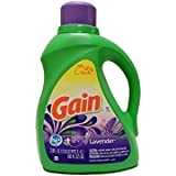 Gain Liquid Detergent with Freshlock for High Efficiency Machines, Lavender Scent, 64 Loads, 100-Ounce