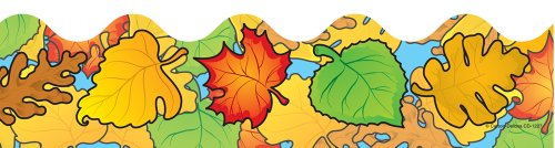 Carson Dellosa Colored Leaves Borders -
