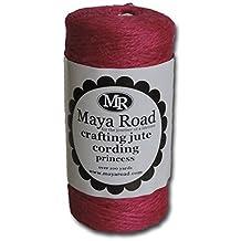 Maya Road TC2825 Jute Craft Baker's Twine Cording, Princess Pink