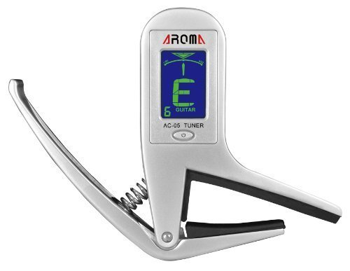 Aroma® First-Ever 2-In-1 Combined Metal Guitar CAPO+TUNER for Guitar, Ukulele, Violin, Electric Guitar, Acoustic Guitar, Bass Guitar