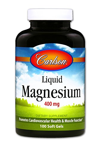 (Carlson - Liquid Magnesium, 400 mg, Heart & Muscle Support, Bowel Function, 100 Soft)