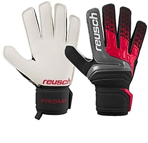 Reusch Soccer Prisma RG Goalkeeper Gloves Left Handed Leather Size 7, Black/Fire Red, Regular