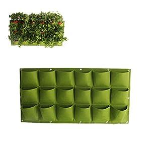 18tasche Borsa da coltivazione verde Appesa a parete Borse per piantare Fioriera Giardino verticale Orto da giardino… 11 spesavip