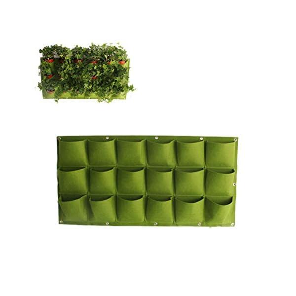 Stylelove Sacco per Piantare Appeso A Parete, 18 Tasche Verde Fioriera per Piantare Fioriera Verticale Giardino Orto… 1 spesavip