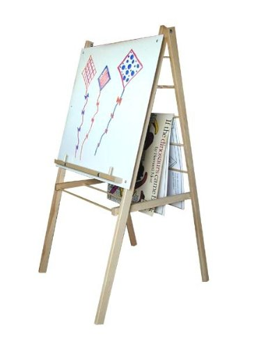 Beka Single-Sided Big Book Easel with Markerboard, 47-1/2 in H X 24 X 24 (Big Book Easel Storage)