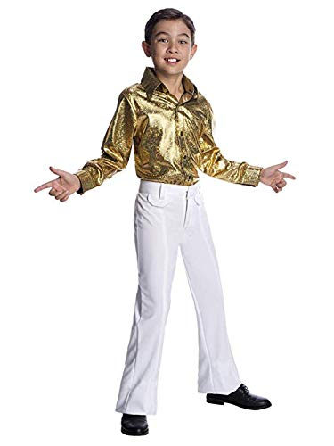 Charades Costumes - Boys Hologram Disco Shirt - S
