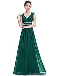Women's Elegant V-Neck Sleeveless Formal Long Evening...