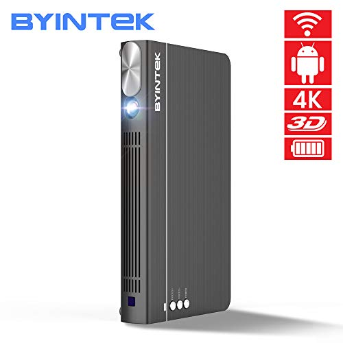 BYINTEK UFO P12 300inch Smart 3D WiFi Android Pico Pocket HD Portable Micro Mini LED DLP Projector for iPhone with Battery