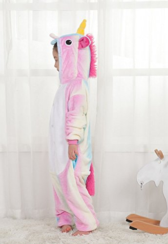 Famycos One-piece Animal Costumes Pajama for Unisex Family School Cosplay Party Colored Blue Unicorn Kids-10 by Famycos (Image #1)