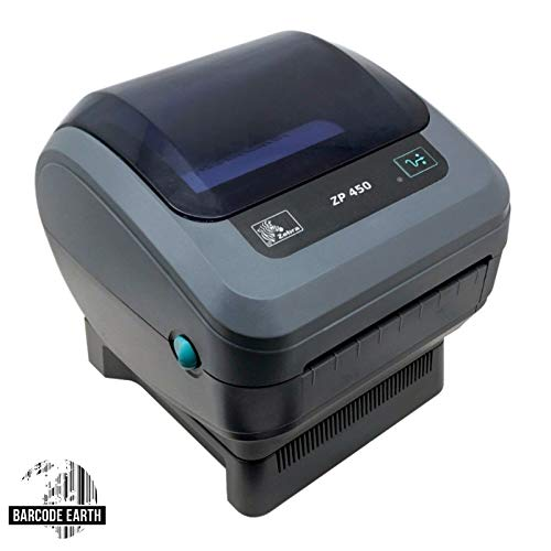 Zebra ZP 450 ZP450-0201-0000A Direct Thermal Barcode Label Printer Network USB Peeler 203dpi (Renewed) by ZebraNet (Image #1)
