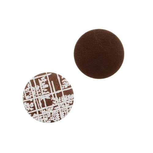Circle Stamping Brown W/ Bamboo Pattern 16mm (2) (Lillypilly Aluminum Circle)