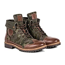 Royal Enfield Men's Camo Outdoor Boots -(SHOSS1906)