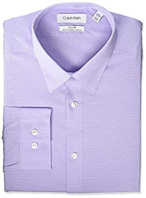 Calvin Klein Men's Dress Shirt Non Iron Stretch Slim Fit