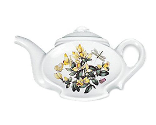 Portmeirion Botanic Garden Teapot Spoon Rest, (Colors and Design May Vary)