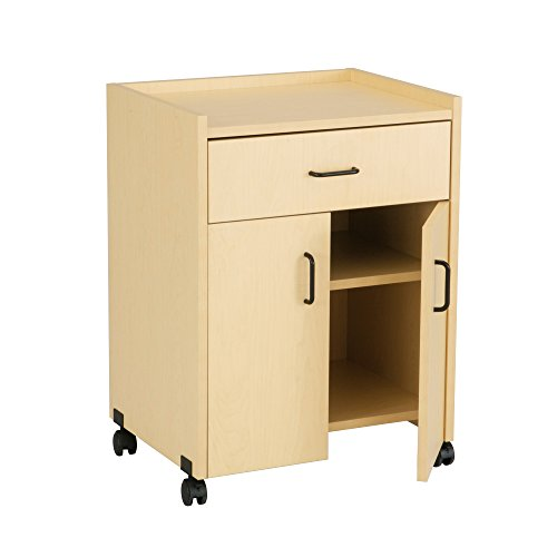 Refreshment Safco Center Mobile - Safco Products 8954MA Mobile Refreshment Center with Drawer Doors