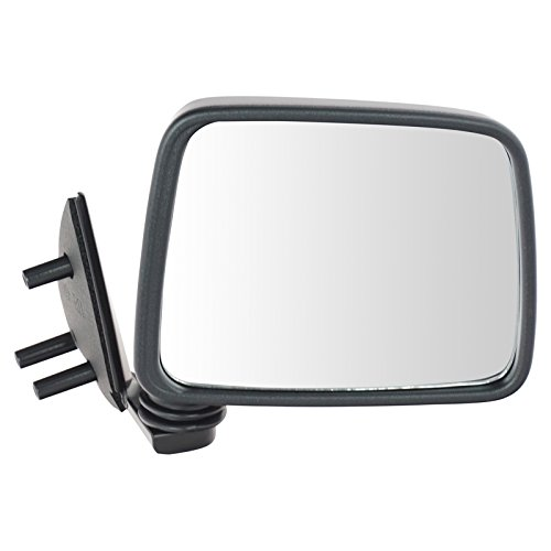 Black Manual Side View Mirror Passenger Right RH For Pathfinder D21 Truck