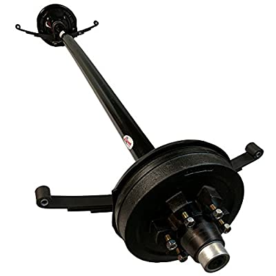 "5,200 lb Electric Brake Trailer Axle w/Double Eye Springs & U-Bolts ( 77"" Hub Face, 62"" Spring Center ) 6 Lug 5.5"" Bolt Pattern"
