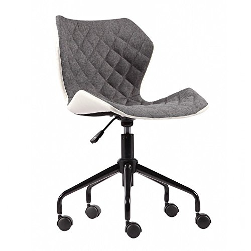 Modern Home Ripple Mid-Back Office Chair (White/Gray) by Modernhome