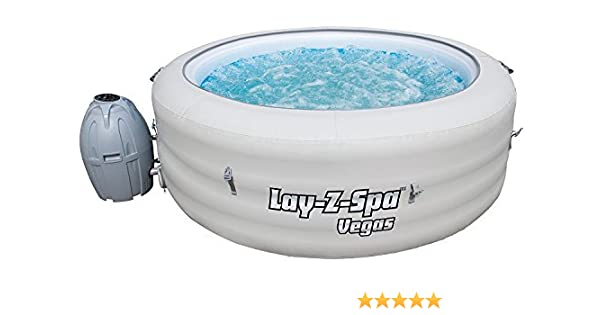 Lay Z Spa Vegas - Bañera de hidromasaje hinchable portátil para familias, jacuzzi de burbujas para 4-6 personas: Amazon.es: Hogar
