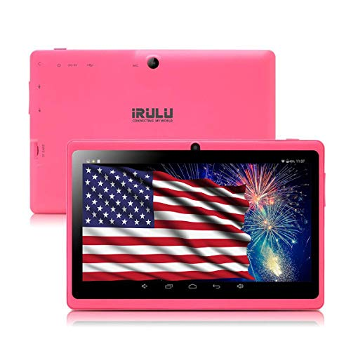 7 inch Tablet,Google Android 8.1 Quad Core 1024x600 Dual Camera Wi-Fi Bluetooth,1GB/8GB,Play Store Skype 3D Game Supported GMS Certified (Pink)