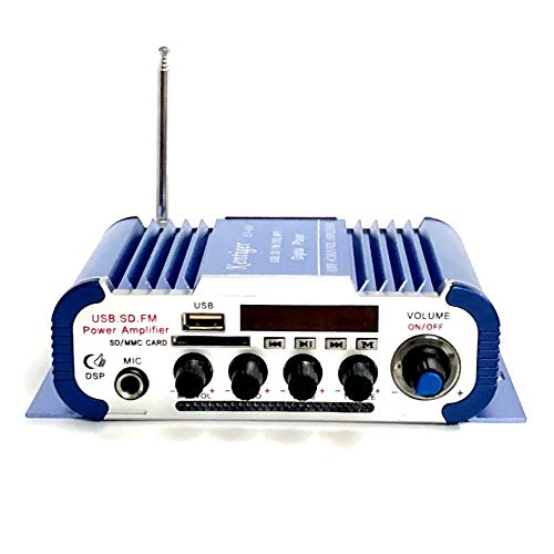 AUWU Kentiger HY-604 4x42W Hi-Fi Car Audio Amplifier Reverberation Function Support USB/SD/DVD/Microphone Input FM Radio Player