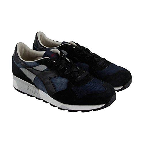 Diadora Mens Boots (Diadora Trident 90 S Mens Blue Mesh/Suede Athletic Lace Up Training Shoes 10.5)