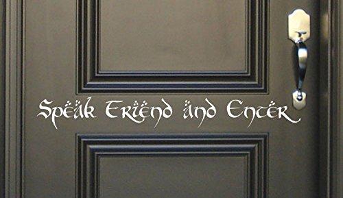 N.SunForest Vinyl Door Wall Decal Stickers Speak Friend Ente