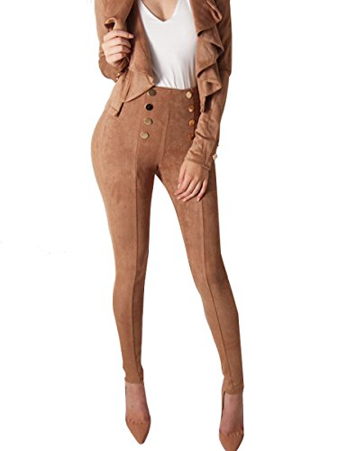 Glamaker Womens Suede Pencil Leggings product image