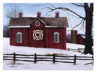 OHIO WHOLESALE, INC. Canvas Prints Wall Art, Wrapped on Stretcher Bars - Lovers Knot Quilt Block BARN Canvas - Decorative Canvas Art Print - Ready to Hang Wall Decor 12 X 16 X 1 Inch
