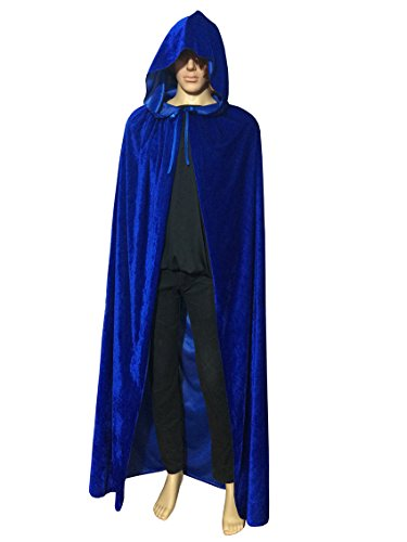 ECITY Unisex Adult Women/Man Hooded Cloak Role Play Costume Cosplay Christmas Cape (Medium (51.2 inch=130cm), (Raven Teen Titans Cloak)