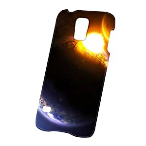 Case Fun Samsung Galaxy S5 (i9600) Case - Ultra Slim Version - Full Wrap Edge to Edge Print - Earth and Comet