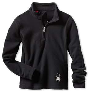 Spyder Girl's Speed Fleece T Neck Shirt, Black, Small