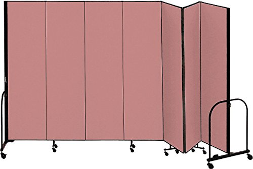 (Screenflex - CFSL747 Mauve - 13 ft. 1 in. x 7 ft. 4 in, 7-Panel Portable Room Divider, Mauve)