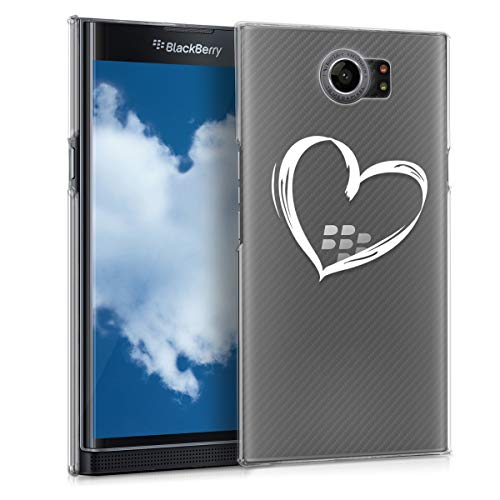 kwmobile Crystal Case for BlackBerry Priv - Hard Durable Transparent Protective Cover - White/Transparent