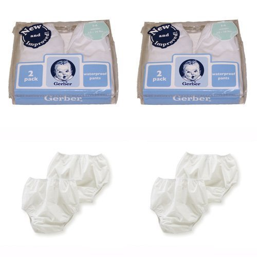 Gerber Plastic Pants, 2T , Fits 28-32 lbs. (4 pairs)