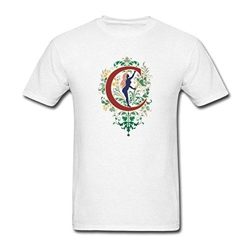 KkOmade Men's Letter C Logo Short Sleeve T-Shirt XX-Large White ()