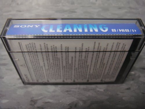 Sony V8-6CLD 8mm / Hi8 / Digital8 Camcorder Video Head Cleaning Cassette (Sony Hi 8 Vcr)