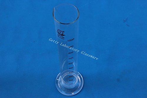 1000 ml (1L) Probeta de vidrio, pyrex cristal material (cristalerí a de laboratorio) pyrex cristal material (cristalería de laboratorio) Beijing Getty Laboratory Glassware Co.