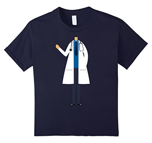 Kids T-Shirt Halloween Costume gift Doctor Uniform 12 Navy (Cute Country Girl Halloween Costumes)