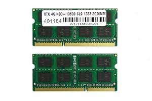 VisionTek 8GB (2x4GB) DDR3 1333 MHz (PC3-10600) CL9 SODIMM Kit, Notebook Memory - 900453