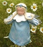 Evi Dolls Waldorf Blue Flower Fairy Soft Doll