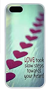 iPhone 5 5S Case Your Heart Love Quotes PC Custom iPhone 5 5S Case Cover White