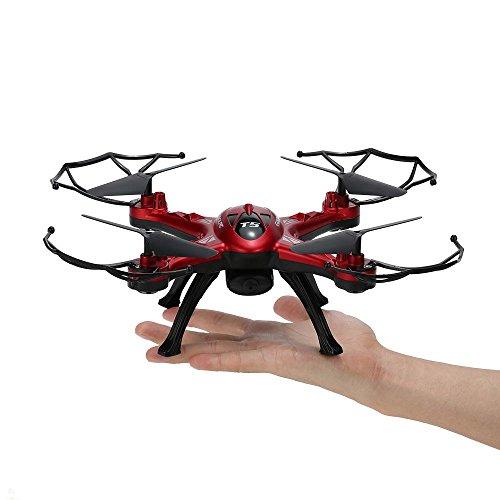 Goolrc t5g drone 5.8g Tiempo Real FPV RC quadcopter 2.0mp HD Bateras para cmara pantalla LCD 360 eversion funcin RC Drones con cmara (Rojo/Estados Unidos)