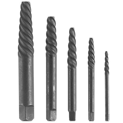 5 Piece Spiral (Bosch B46212 5 Piece Spiral Screw Extractor Set Black)