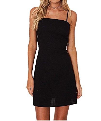 womens spaghetti strap mini dress - 4