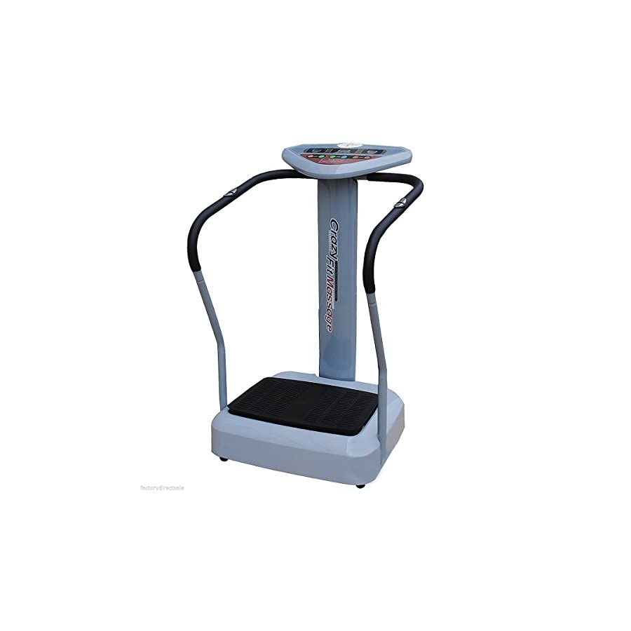 Clevr 1000w/2000w Crazy Fit Full Whole Body Vibration Fitness Massage Exercise Machine Platform, Black or Grey Colors