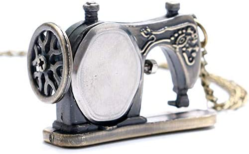 DYH&PW Relojes Bronce Antiguo Mini Relojes de Cuarzo Máquina de ...
