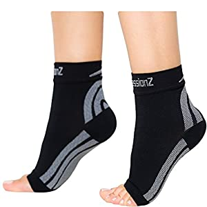 Foot Sleeves (1 Pair - XL) Best Plantar Fasciitis Compression for Men & Women - Heel Arch Support/ Ankle Sock
