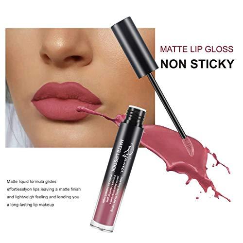 Lip Gloss by Rejawece - Waterproof Long Lasting Matte Lip Gloss Liquid Lipstick Beauty Makeup Cosmetics Lip Stick (Color 8#)