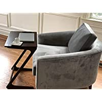 AVIGNON HOME Sofa Table TV Tray Super Top Laptop Desk Removable Side Snack End Tables for Bed Sofa Eating Writing Reading Living Room Walnut Couch Desk Dinner Tray